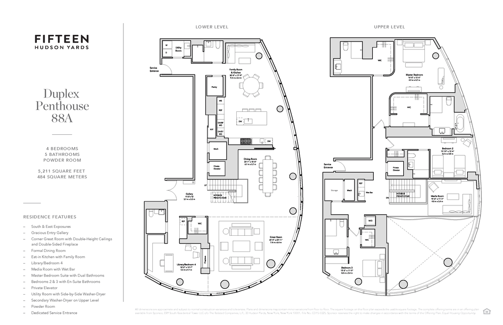 15 Hudson Yards Ph88a New York Ny 10001 New York Condos Hudson Yards 4 Bedroom Condo For Sale