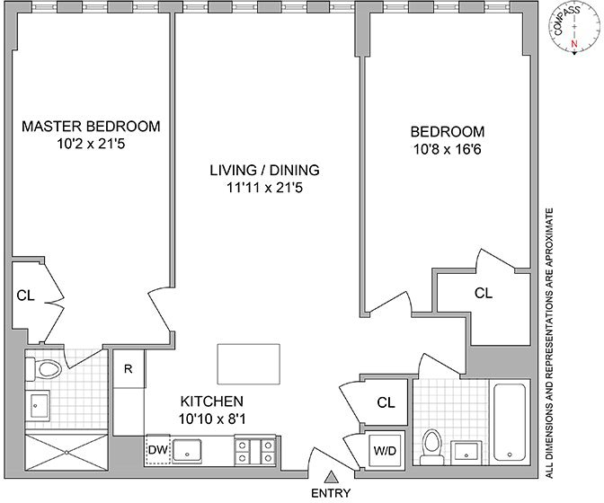 2 Condo in Crown Heights