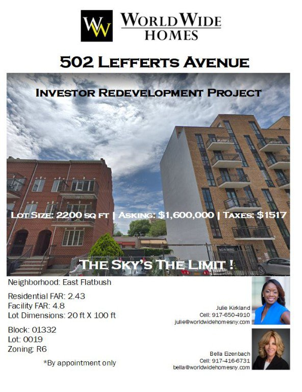 502 Lefferts Avenue, Brooklyn, NY 11225 | Brooklyn