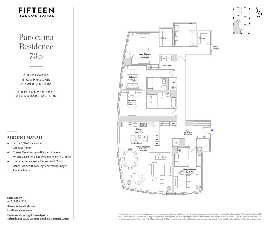 15 Hudson Yards 73b New York Ny 10001 New York Condos Hudson Yards 4 Bedroom Condo For Sale