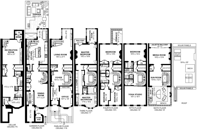 25 West 88th Street New York Ny 10024 New York Townhouses Upper West Side 6 Bedroom Townhouse For Rent